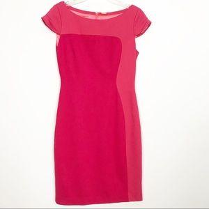 Elie Tahari Two Tone Color Block Sheath Dress 2